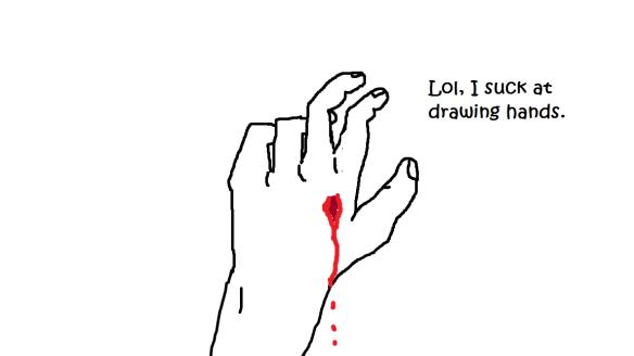 bleeding hand