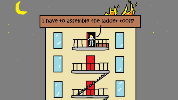 fire escape requires assembly